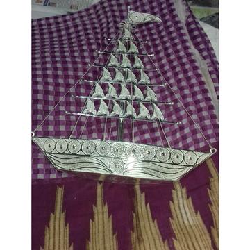 Handmade Cholel Nakshi Dull Finishing Boat Stimer Ms-1761