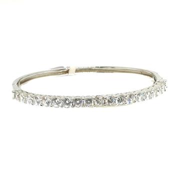 925 Sterling Silver CZ Diamond Lining Bracelet MGA - BRS0310