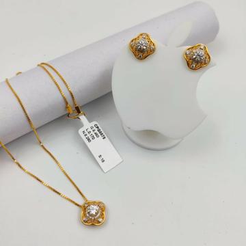 22 carat fancy chain pendant set by Parshwa Jewellers
