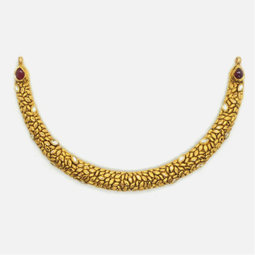 916 Gold Antique Bridal Necklace RHJ-4172