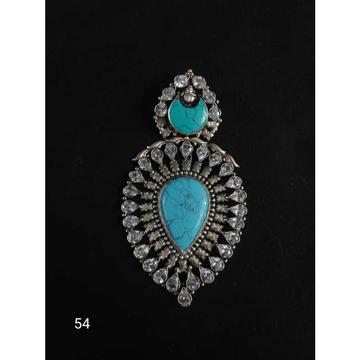 92.5 Sterling Silver Heart Shaip Rodiyam Dimond Pe... by