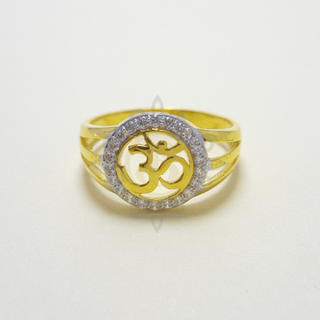 916 Gold Om Gents Ring by