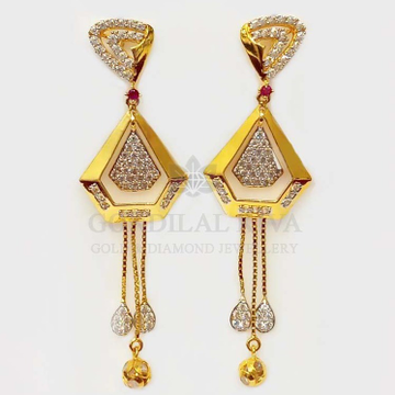 18 kt gold earrings gft425