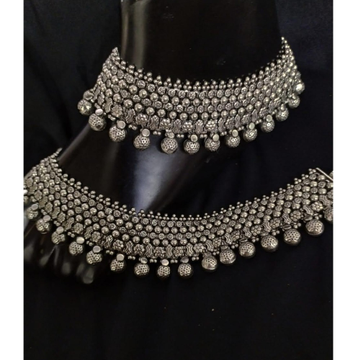 925 Pure Silver Antique Payal Handmade PO-208-24