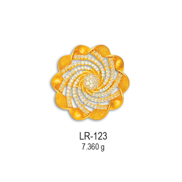 916-Gold-Fancy-CZ-Diamond-Ring-LR-123