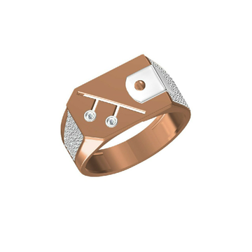 Rose Gold Designer Daily Wear Men's Ring-31334