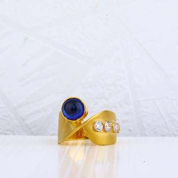 18kt gold ladies italian ring lir41