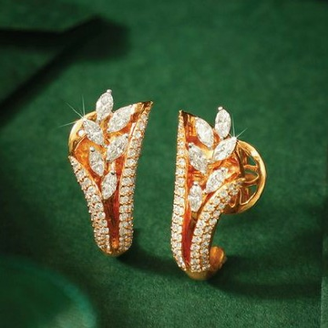 18KT Rose Gold Fancy casual ware J shape earrings... by