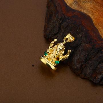 Ganapti Gold Hollow Pendant-HLP100