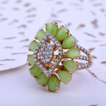 760 Rose Gold Stylish Hallmark Ladies Ring RLR509