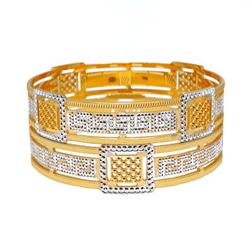 1 Gram Gold Forming Designer Bangles MGA - BGE0467