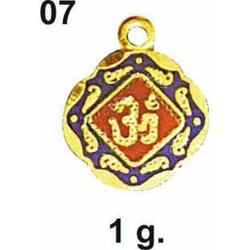 916 Gold Om Pendant