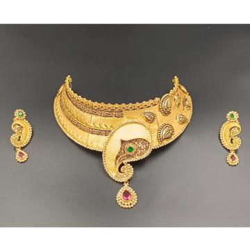 916 gold  Wedding antique chokar by Ranka Jewellers