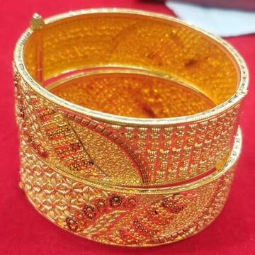 916 Gold Hallmark Antique Bangle  by