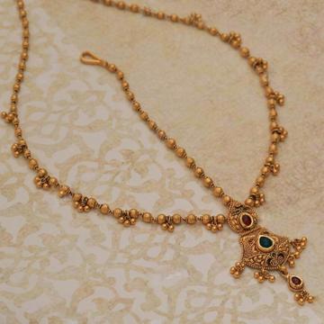 22KT/ 916 Gold antique wedding Jadtar Mang tikka f... by