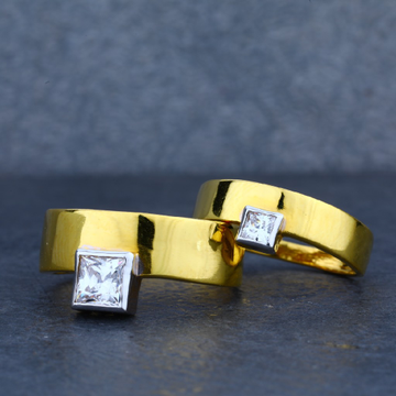 22K Gold Engagement Couple Ring-CR23