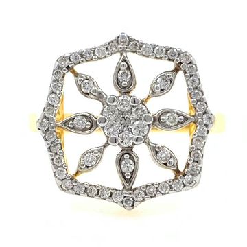 18kt / 750 yellow gold sun inspired diamond ring 8lr292