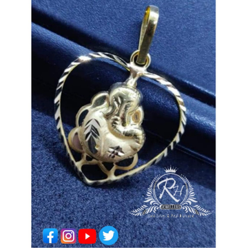 silver ganesh pendants RH-PN380