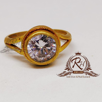 22 carat gold gents single stone ring RH-GR906