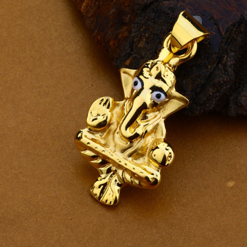 18ct Gold Hollow Hallmark Pendant HLP130