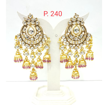 Wedding Gold plated kundan Design Jhumka Jhumki Earring 1510