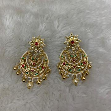 Imitation Rajwadi Kundan Earrings by