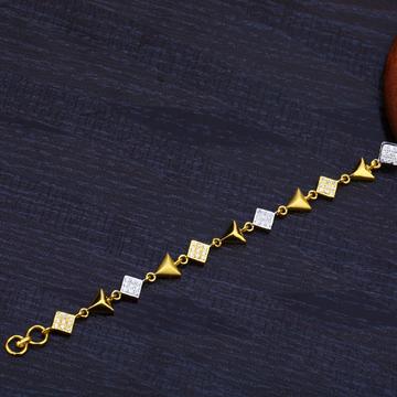 Ladies 22K Fancy Gold Bracelet-LB135