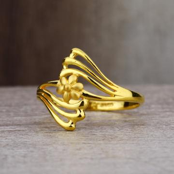 Ladies 22K Gold Unique Fancy Ring -LPR50