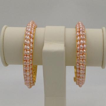 Peach oval pearls 3layers Bangles jbg0067