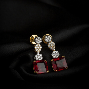 diamond earring with the touch of stone