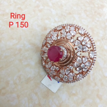 c.z diamond rose gold plated alina ring