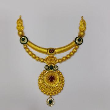 916 Gold Fancy  Antique Necklace RJ-AN-001 by