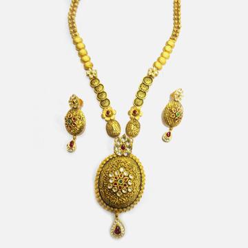 916 Gold Antique Long Necklace Set RHJ-4633