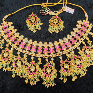 Bridal necklace with earrings bdns031