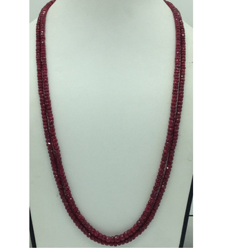 Natural Red RubyRound Faceted Beeds 2Layers Neck...