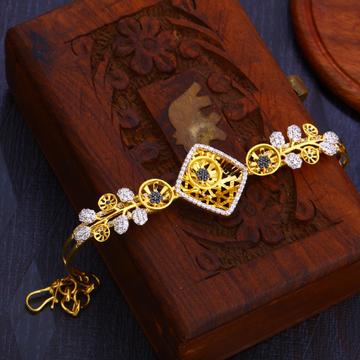 916 gold stylish ladies hallmark bracelet lb273