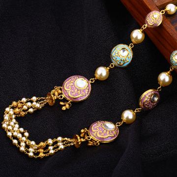 916 Gold Hallmark Designer Antique Chain Mala AC19...