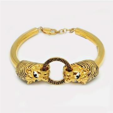 916 Gold Rajwadi Lion Shaped Bracelet
