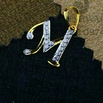 M Name Letter Pendent