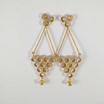 22k gold hanging fancy earring nj-e007