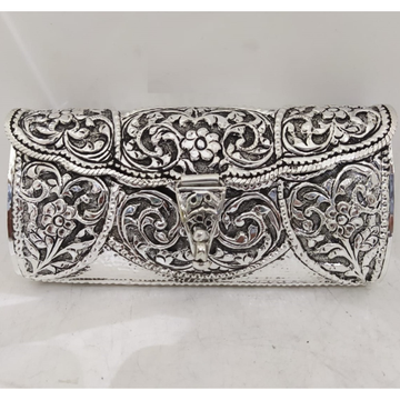 blissful floral motifs hallmarked silver handbag b...