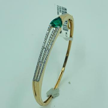 18ct rose gold bracelet green diamond by