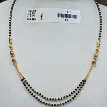 22KT/916 YELLOW GOLD FANCY SHRENI MANGALSUTRA GMS-003