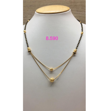 916 Gold Designer Double Layer Mangalsutra IO-M03