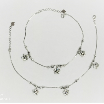 Puran hallmark silver tiny floral charms and bubbl...