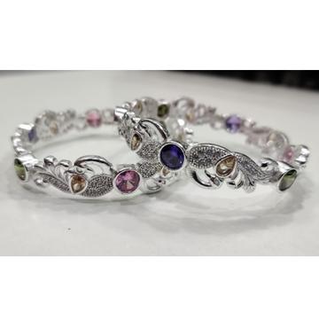 Silver ladies bangles rh-lb657
