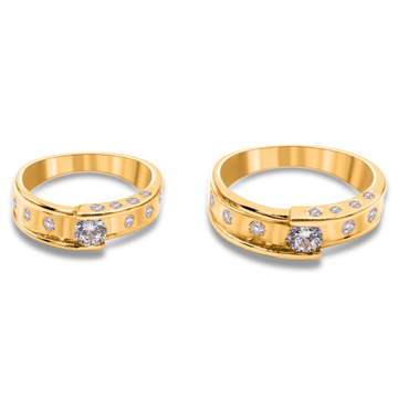 916 gold designer couple ring kv-r002