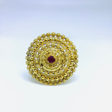 DESIGNING FANCY GOLD RING FOR LADIES by