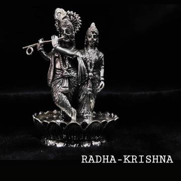 Silver Radha Krishna Murati