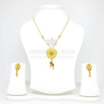20kt gold pendant set gchp18 - gft384